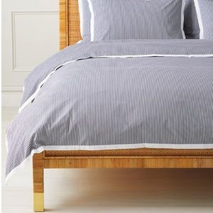 New Serena and lily oxford stripe duvet cover
